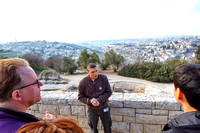 Overlooking Jerusalem with tour guide Eyal