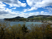 Looking at town of Bar Harbor from Bar Island